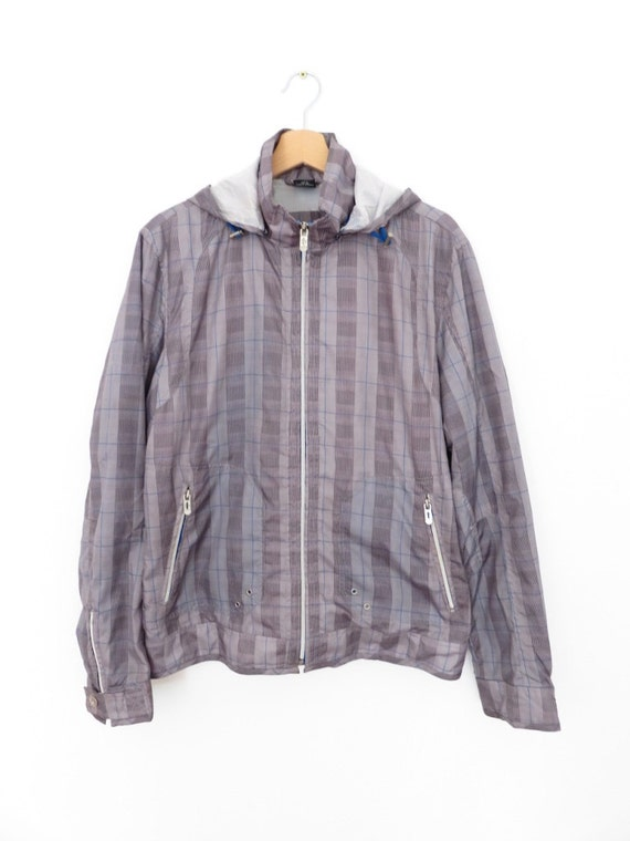 Zara abrigo deporte viento con capucha chaqueta de la vendimia, sz. M