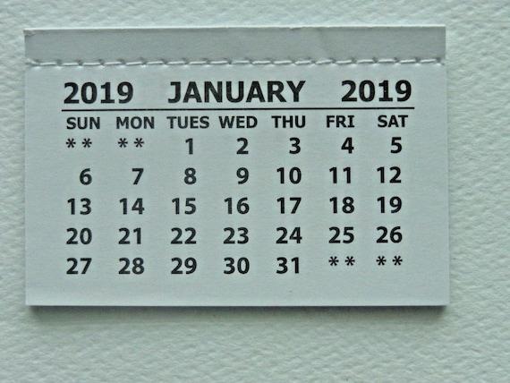 100 mini 2019 monthly tear off calendar pad jan dec card etsy