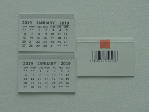 two mini 2019 self stick monthly tear off calendar pad etsy