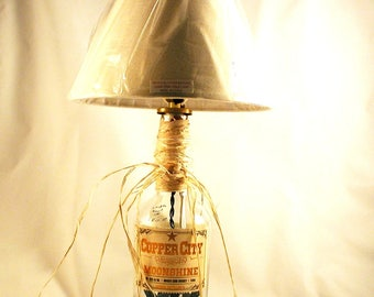 Moonshine lamp etsy moonshine bottle table lamp from arizona shipping is included aloadofball Gallery