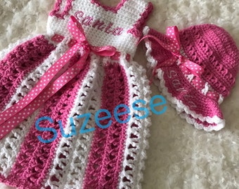 cf8db3115 Crochet Baby Spring Dress Crochet Butterfly Dress Baby