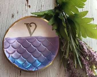 Personalised Mermaid Ring /& Jewellery Dish