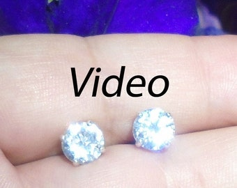 0.4ct Brilliant Round Cut Solitaire Highest Quality Moissanite Unisex Anniversary Gift 3-prong Stud Martini Earrings Real Solid 14k Yellow Gold Screw Back