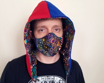 Festival hood - reversible with interchangeable chain - 3-D Dreams