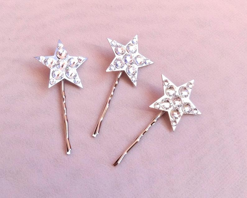 wedding hair jewelry star hair pins set of three bridal crystal hair pin   Style 317 bridal crystal headpiece wedding crystal hair pin