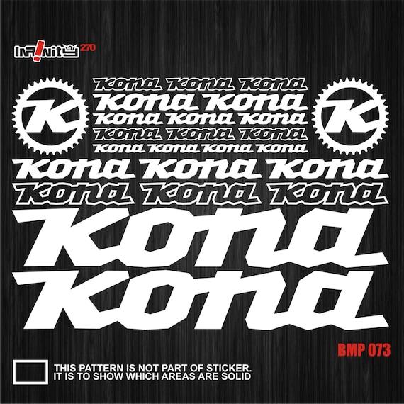 Kona Vinyl Decals Stickers Sheet Bike Frame Cycle Cycling Bicycle Mtb Road
