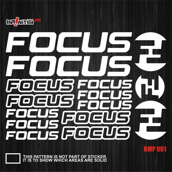 Focus Mountain Bicycle Frame Decals Stickers Graphic Adhesive Set Vinyl Red