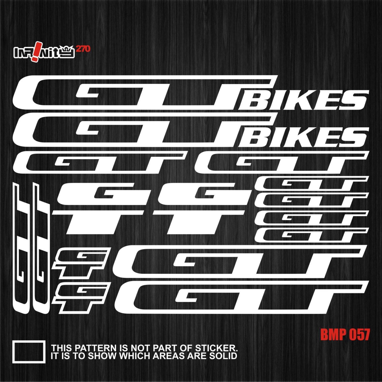 Gt bikes decals set