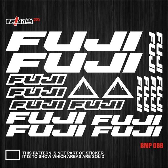 Fuji Bicycle Bike Frame Decals Stickers Adhesive Graphic Set Vinyl Black