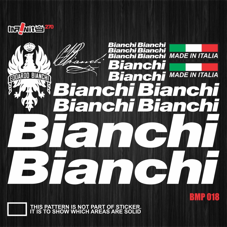 wBMP018 Bianchi Fahrrad Rahmen Aufkleber Tube Decal Set | Etsy