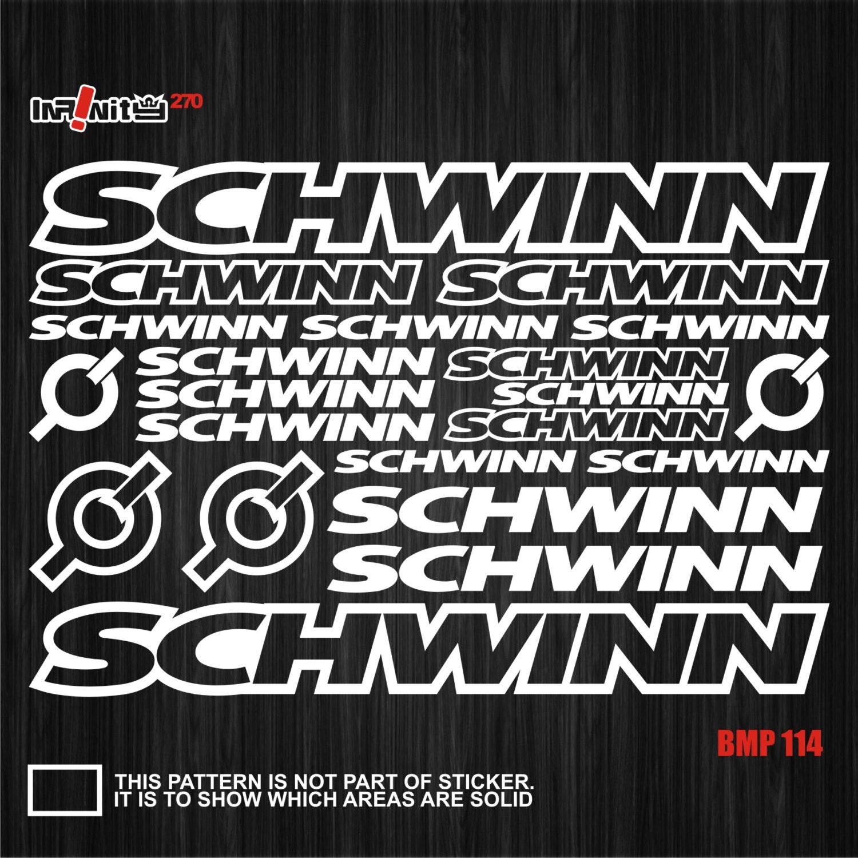 wBMP114 Schwinn Bike Fahrrad Rahmen Aufkleber Decal Set | Etsy