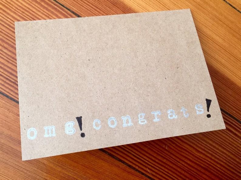 Congratulations Note Card OMG Congrats!
