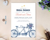 Tandem bicycle bridal sho...