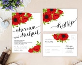 Red and black wedding Inv...
