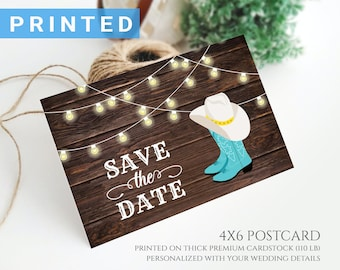 Cowboy Boot Bride Cowboy and Cowgirl Save the Date Wedding Favor Magnets Gift Groom Western Wedding Favor