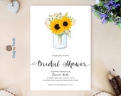 Mason jar bridal shower i...