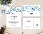 Blue wedding invitations ...