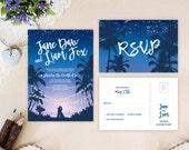 Tropical beach wedding in...