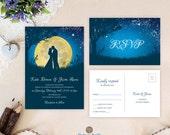 Romantic wedding invitati...