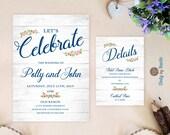 Budget wedding invitation...