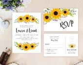 Sunflower wreath wedding ...