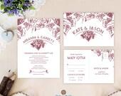 Vineyard wedding invitati...