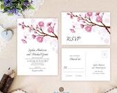 Pink wedding invitation s...