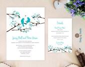 Turquoise Wedding Invitat...