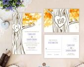 Fall wedding invitations ...