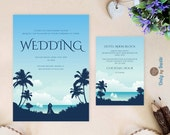 Beach wedding invitation ...