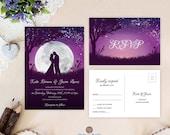 Moon night wedding invita...