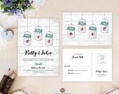 Barn wedding invitation s...