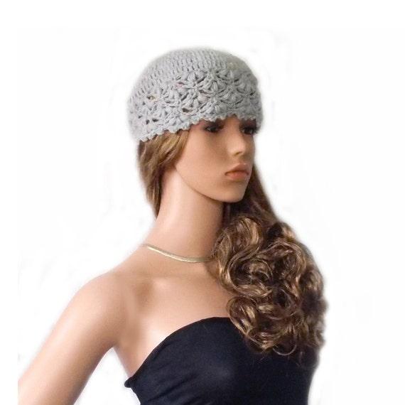 Spitze Mütze und fingerlose Handschuhe Set grau gehäkelte | Etsy