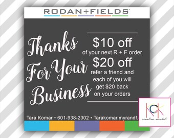 rodan and fields gift certificates promotion network etsy