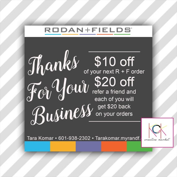 Rodan And Fields Gift Certificate Coupon Graphic Promotion Etsy