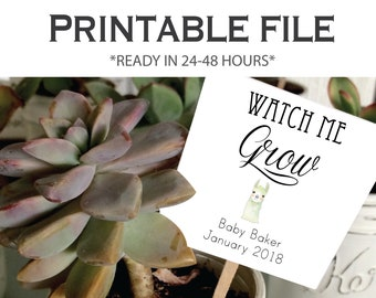 LLAMA CUSTOMIZABLE tags, 24 hour turnaround - Watch Me Grow tags