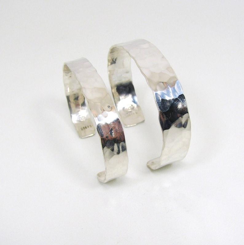 Silver Cuff Bracelet Fine Silver Bracelet Solid Pure Silver Hammered Design Bracelet 999FS Silver Cuff Bracelet