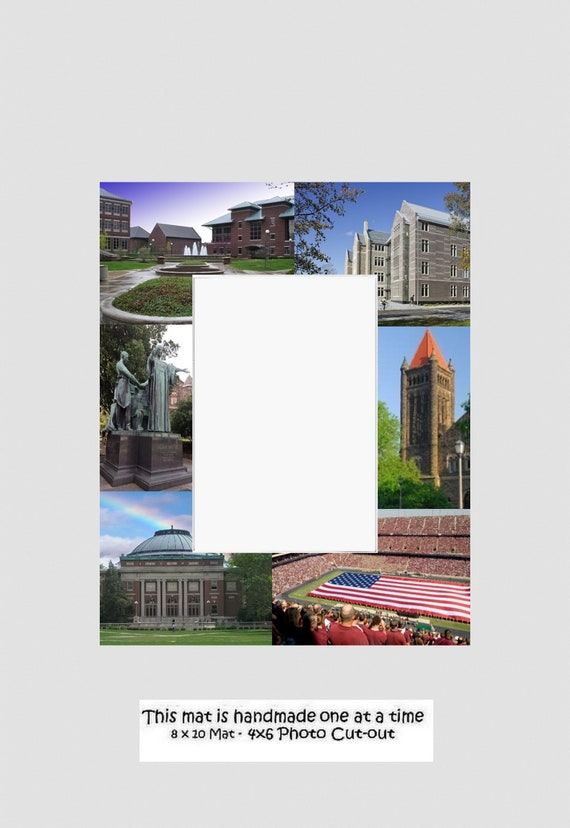 University Picture Frame Photo Mat Unique Gift Graduation New Orleans to Prov