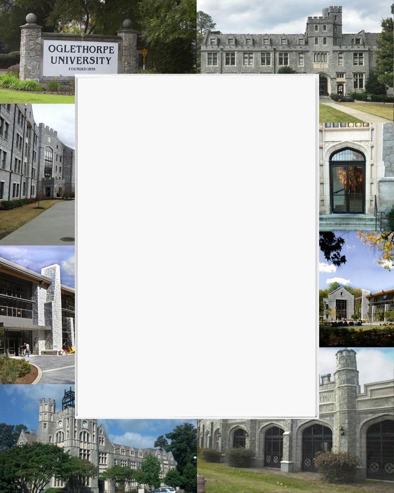 Oglethorpe University Picture Frame Photo Mat  Unique School Graduation Gift Personalized