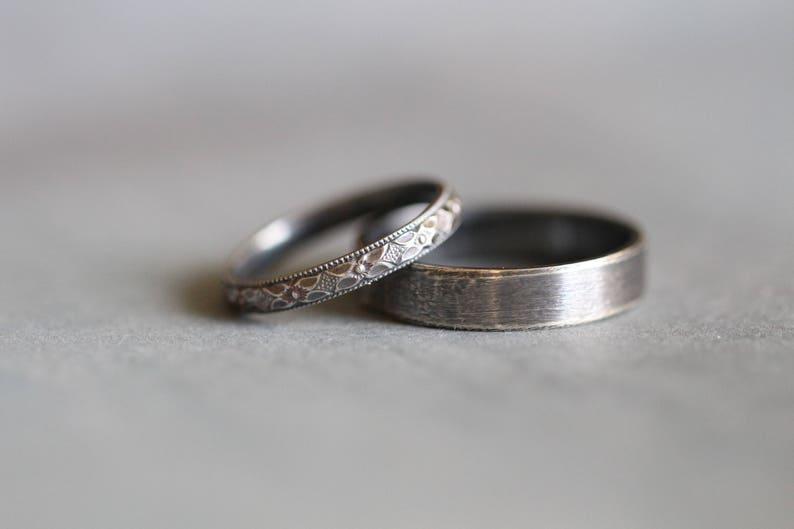 BECCA: Wedding Rings Set Wedding Bands Sterling Silver image 0