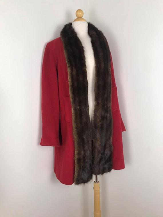 1940s red coat