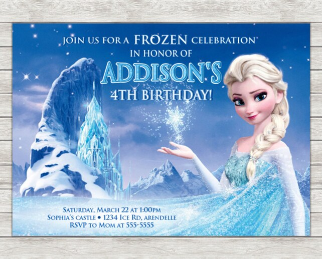 image about Frozen Birthday Card Printable known as Elsa Frozen Birthday Invitation - Printable Record