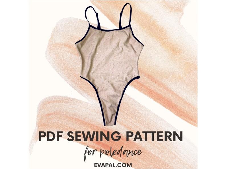 Dance Poledance Leotard Polewear Lingerie Swimsuit Multi size PDF Sewing Pattern Yoga Fitness Teddy Size XS-XL Bodysuit