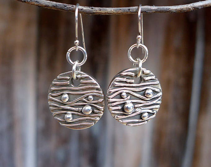 Large Seed and Straw circle earrings