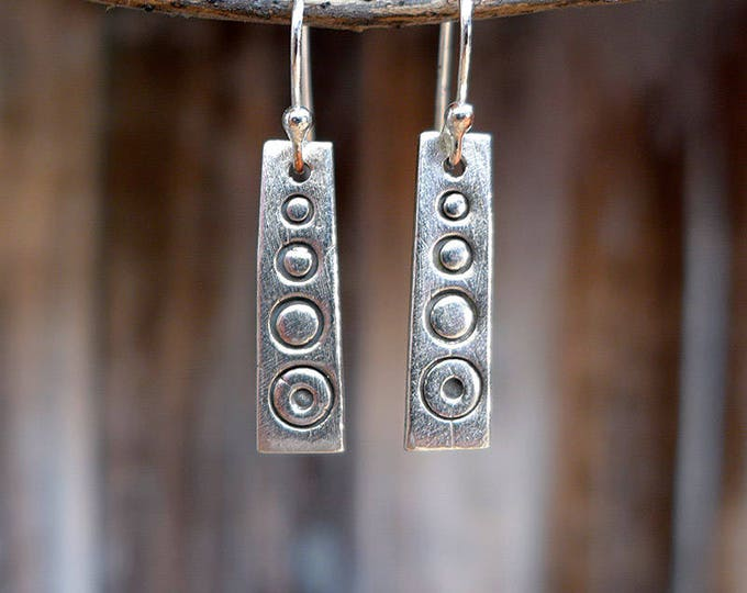 Tribal trifecta monolith earrings