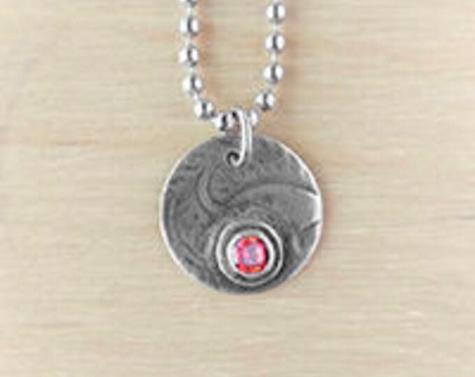Jacquard and gem necklace - orange