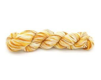 Hand Dyed Yarn - 50g / 1.76oz DK/Light Worsted (8ply) - 100% Superwash Merino Wool- White Yellow Brown Black Golden Tiger Color Australia