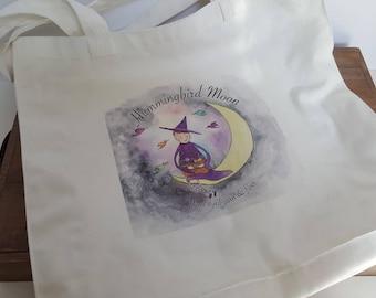 Hummingbird Moon Logo- Tote Bag- Project Bag