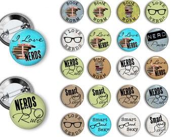 Nerd Pins Nerd Buttons Nerd Party Favors Geek Pins Geek Buttons 1.25 inch pinback button set buttons pins badges magnets