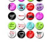 Barre Exercise Workout Pin Back Button Party Favors 1.25 inch Buttons, Pins, Badges